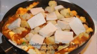 Gobi Matar Paneer - Spicy Indian Cauliflower Curry