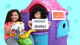 Magic McDonald's Happy Meal! Turns Real Chocolate Surprise Eggs Chocolate Spoon