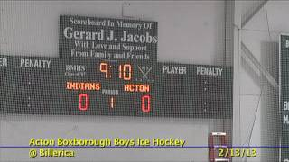 Acton Boxborough Varsity Boys Hockey @ Billerica 2/13/13
