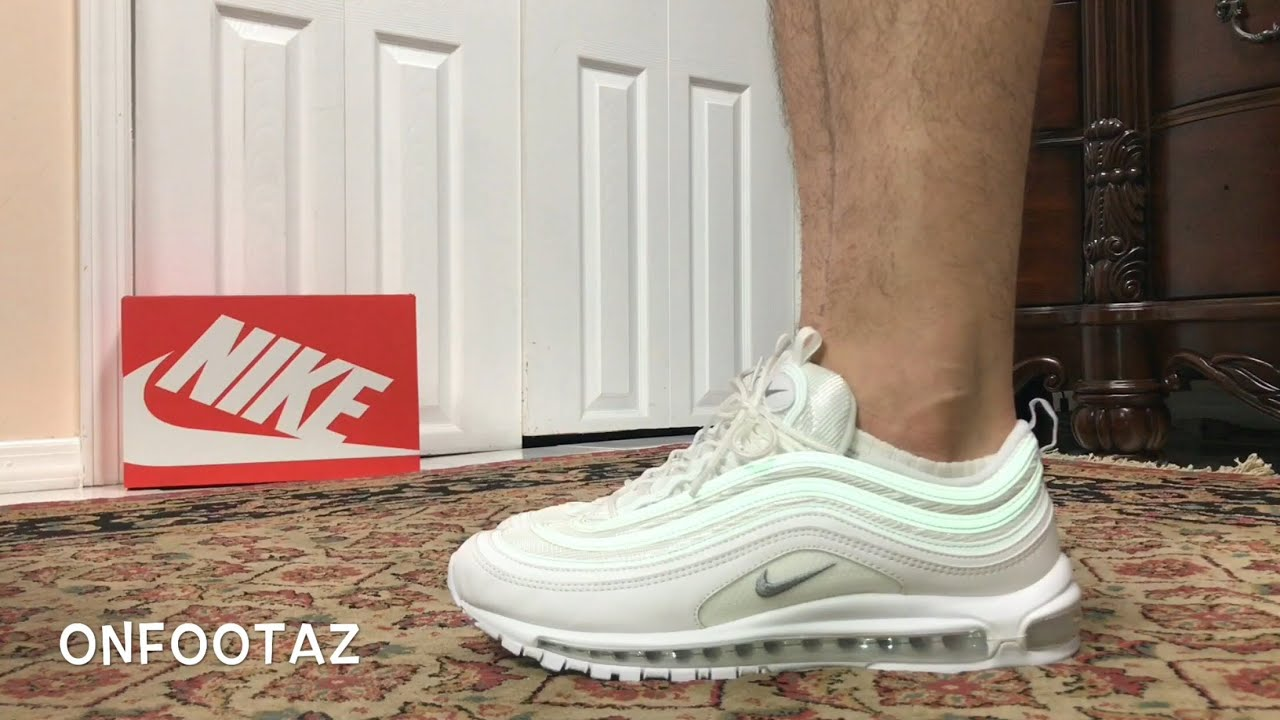 Nike Air Max 97 Triple White 2017 On Foot