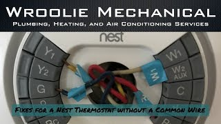 Fixes for a Nest Thermostat Missing Common Wire
