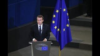 Europe : revivez le grand oral d'Emmanuel Macron au Parlement de Strasbourg