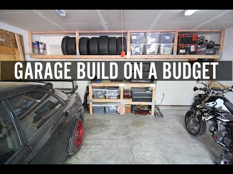 DIY Garage Build // Part 1 Building Shelves And Tire Rack