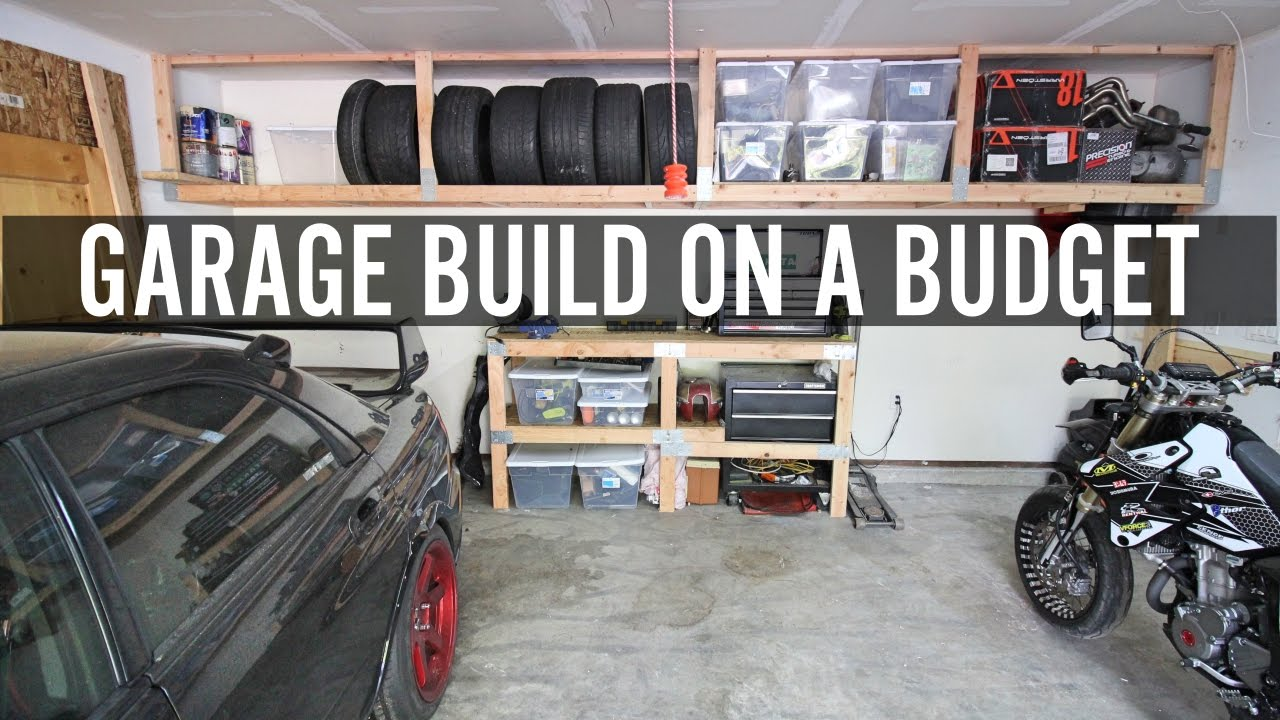 Diy garage build part 1 building shelves and tire rack for Build your garage online