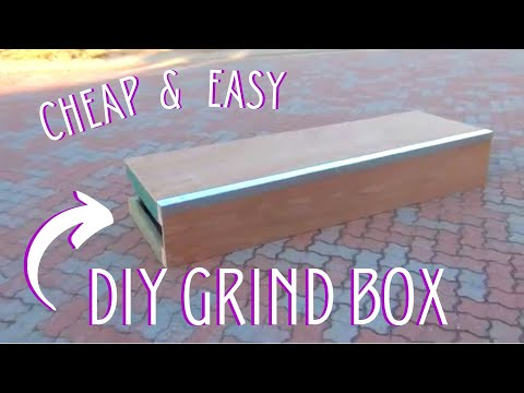 HOW TO MAKE A CHEAP D.I.Y SKATEBOARD GRIND BOX 2.0