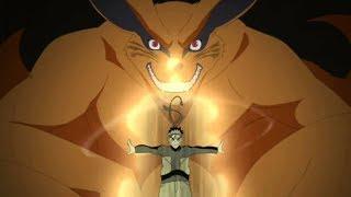 ناروتو يتحد مع كروما ناروتو يصبح صديق البيجو - قوة ناروتو الاسطورية مع الكيوبي
