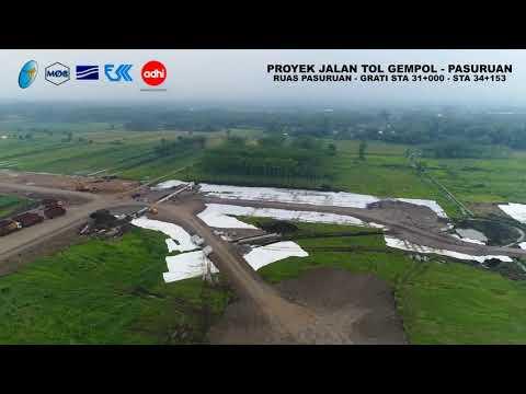 Progress Proyek Pembangunan Jalan Tol Gempol - Pasuruan Seksi 3C ( 16 Januari 2018 )