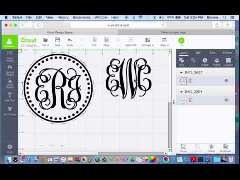 How To Make A Monogram With Cricut Design Software Making