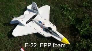 F-22 Epp Foam Rc Plan