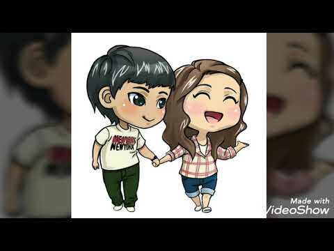 Cute Animation Of Love Couple|Cartoon Couple WhatsApp\Facebook DP-Profile Pictures|Tulip Fusion
