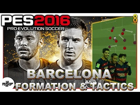 PES 2016 Tactics & Formation for online (Barcelona Online divisions)