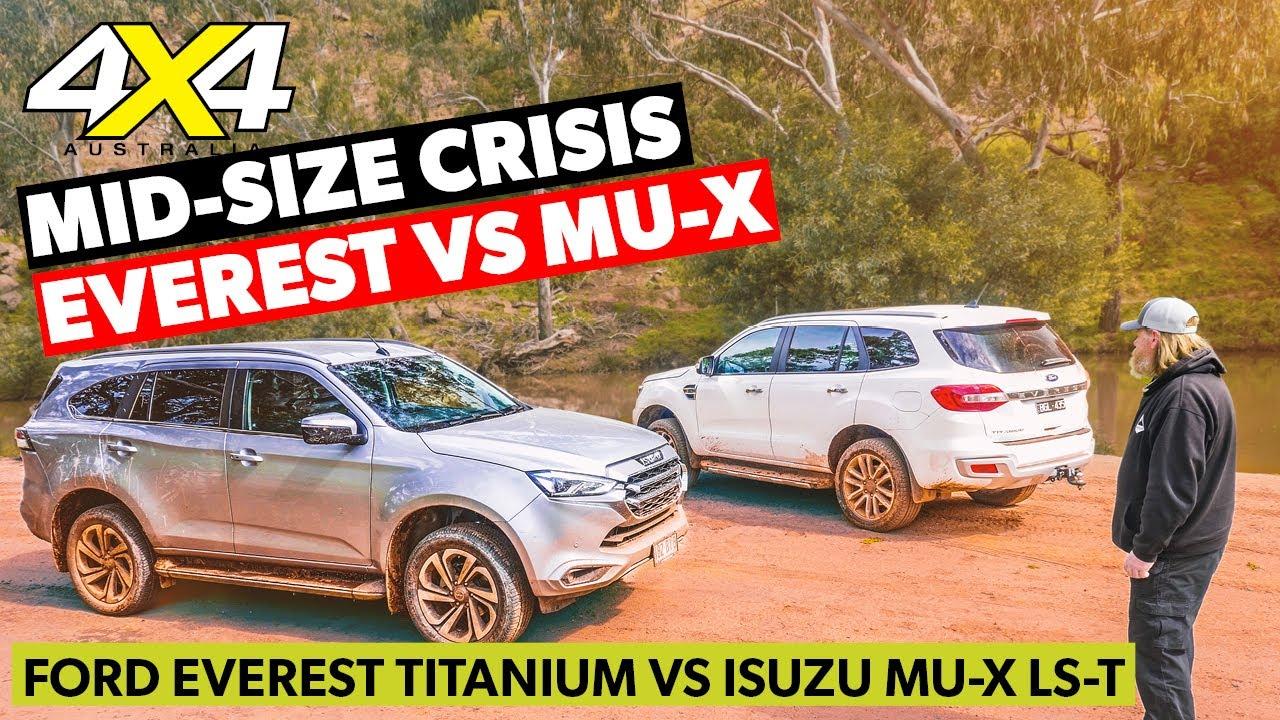 Ford Everest Titanium vs Isuzu MU-X LS-T   4X4 Australia