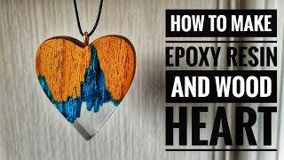 Epoxy Resin And Wood Heart | Resin Heart | Resin And Wood ❤️ | Resin Craft