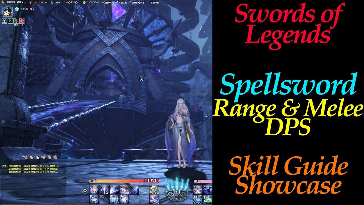 Download Spellsword General Introduction for Range & Melee DPS Skill Showcase | Swords of Legends Online