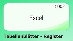 Excel #002 Tabellenblätter - Register [deutsch]