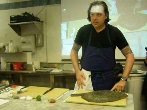 Chef Paul Liebrandt Filleting Turbot