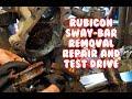 Jeep Wrangler Rubicon Mopar Sway Bar disconnect removal repair fix test