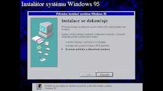 Windows 95 installation - sped up 4 times - Windows 95 CZ OSR 2.1