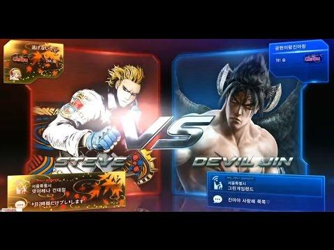 Tekken7 Steve(HelpMe) vs Deviljin(JisammoonACE) 鉄拳7 철권7 korea online battle