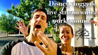 Youtube live stream relevancy?  Disney vloggers live stream with