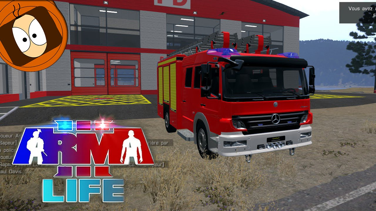 arma 3 life pompier intervention accident de la route youtube. Black Bedroom Furniture Sets. Home Design Ideas