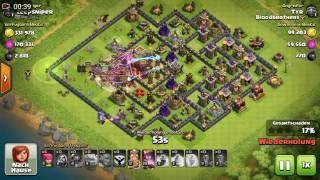 Let's Play Clash of Clans 2 Sterne Taktik auf Rathaus 10