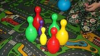 Играем в боулинг! ❤ VLOG# Боулинг для малышей! Play bowling! Bowling for kids!