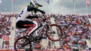 bmx rider brooke crain crashes during run at london olympics