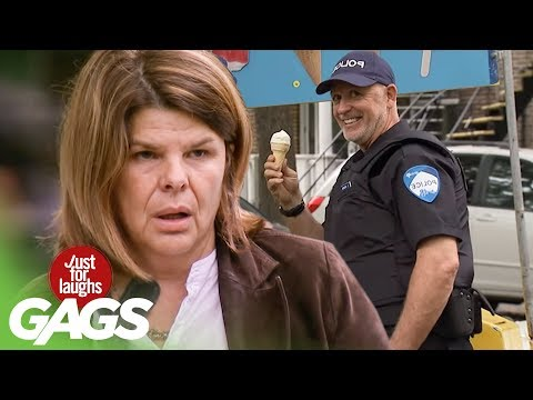 Arresting Bad Guys While Licking Ice Cream PRANK!