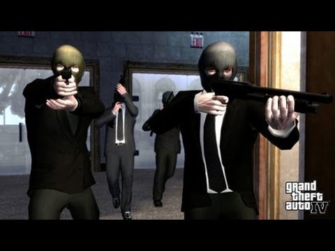 GTA IV - Bank Robbery (Mission: Three Leaf Clover) [HD]