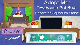 Adopt Me Furniture Design Ideas & Hacks Treehouse Pet Bed, Decorated Aquarium TV Stand ROBLOX