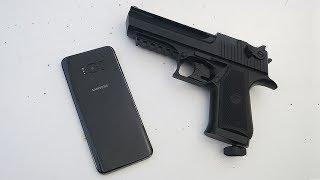 Samsung S8 vs Gun!