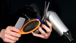Asmr hairdresser/barber/haircut (binaural recording)