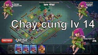 NMT   Clash of clans   Thử thách đánh chay Archer LV 14 làng 2
