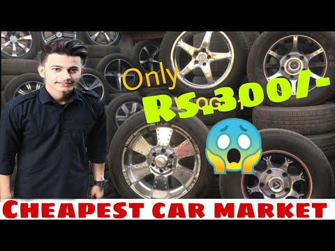 Alloy wheels Rs.300/- only | buy mayapuri scrap market | car accessories market || cheapest price ||