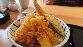 館山なぎさ食堂 上天丼 と さざえの和風パスタ と 展望デッキ と!