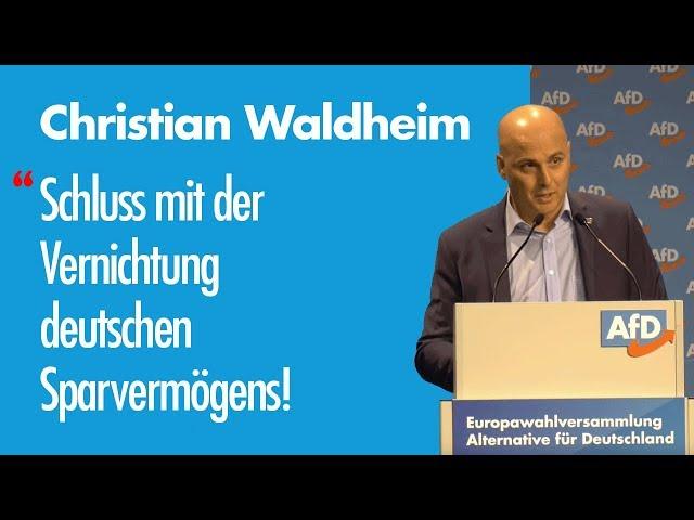 Christian Waldheim | EU-Wahl '19 – Listenplatz 24