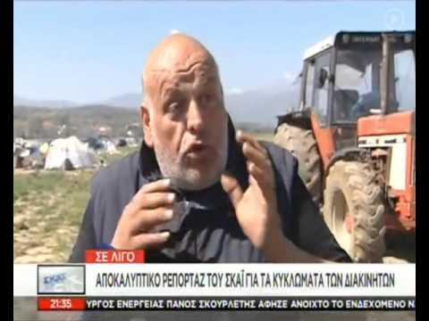 Ειδομένη: Ο αγρότης που όργωσε τον καταυλισμό προσφύγων