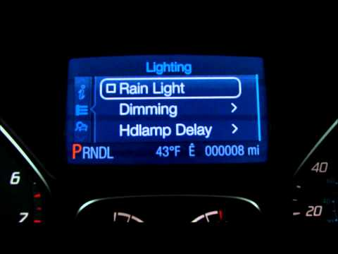 Ford Focus Escape Rain Light and Auto Dimming