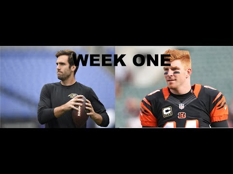 Madden 18 Cincinnati Bengals Franchise Episode 1- vs Baltimore