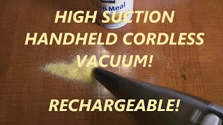 REVIEW of AFBEST Handheld  Cordless Vacuum Cleaner with 7.2V Rechargeable NiMh Battery