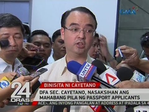 24 Oras: DFA Sec. Cayetano, nasaksihan ang mahabang pila ng passport applicants