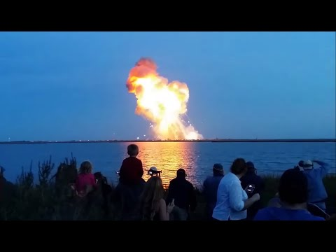 Nasa Antares Rocket Launch Failure (4 angle)