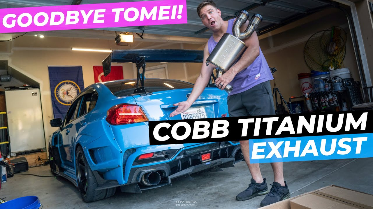 catless sti gets a cobb titanium exhaust tomei is gone jdm varis subaru wrx sti