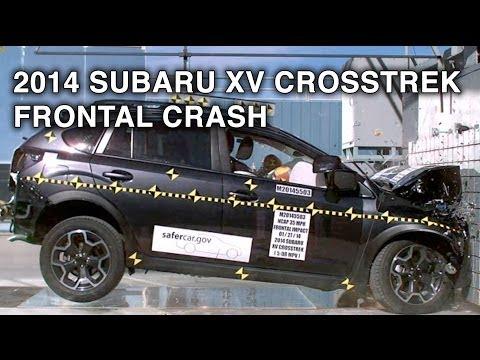 2014 Subaru XV Crosstrek Frontal Crash Test CrashNet1
