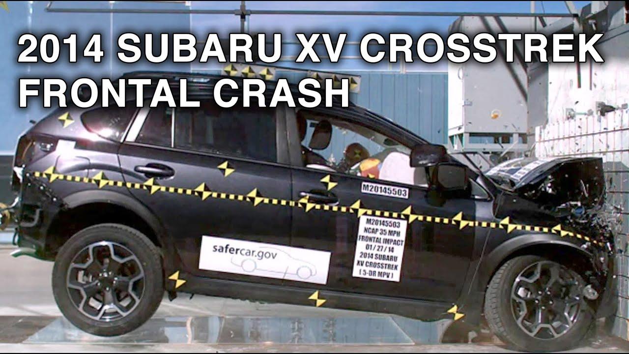 2014 Subaru XV Crosstrek  Frontal Crash Test  CrashNet1  YouTube