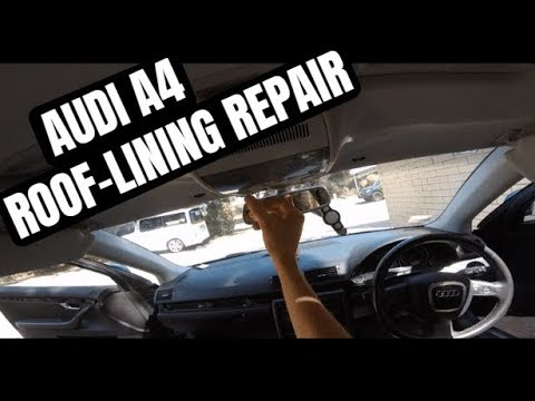 HOW TO Remove & FIX Sagging HEADLINER on Audi A4
