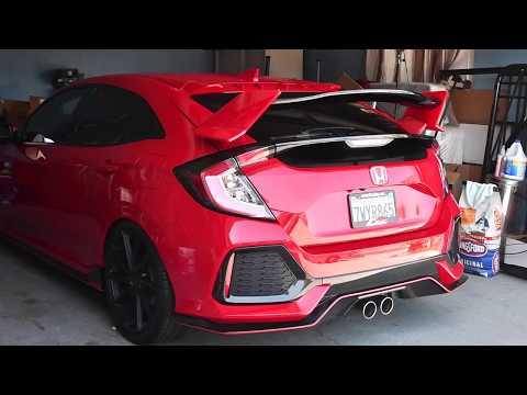 A quick test run with fins and vortex generators on Honda Civic Hatchback Sport 2017