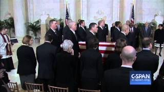 Justice Scalia Casket arrives at Supreme Court (C-SPAN)