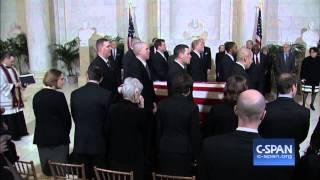 Justice Scalia Casket arrives at Supreme Court (C-SPAN)
